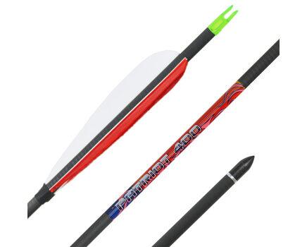 Купите карбоновые стрелы для лука Bowmaster Patriot 400 с натуральным оперением 5 дюймов в интернет-магазине