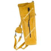 Колчан для стрел заплечный желто-коричневый Deluxe